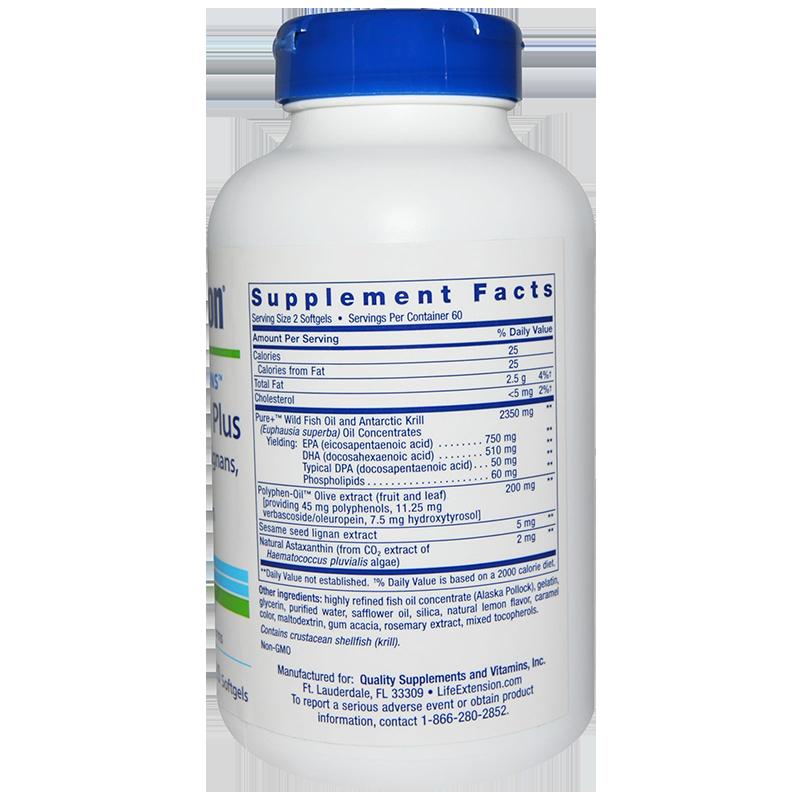 LifeExtension Super Omega-3 Plus Krill & Astaxantin, 120 caps